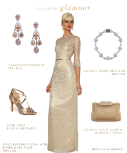 Gold Gown for Mother of the Bride