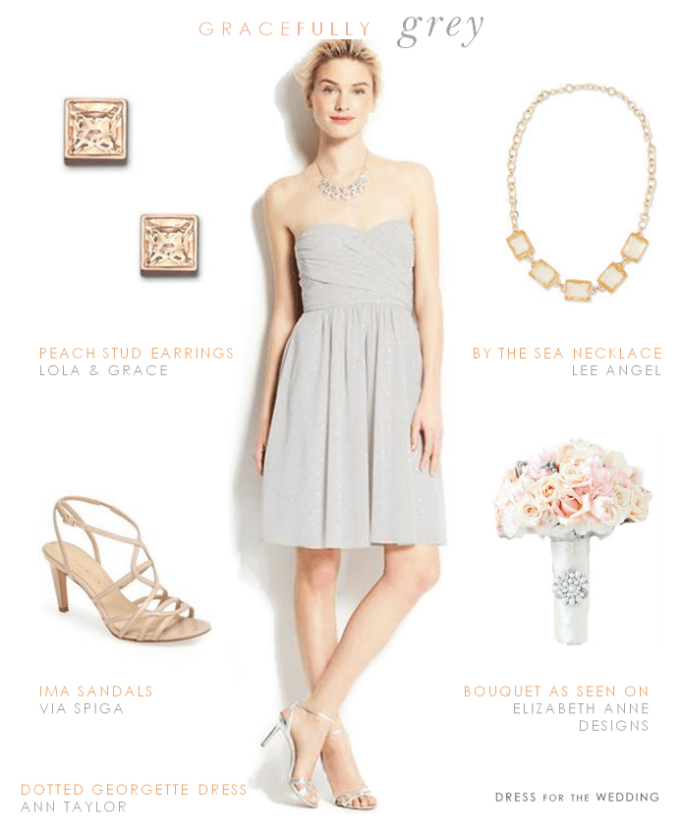 Grey Bridesmaid Dress | Gray Dress for a Wedding