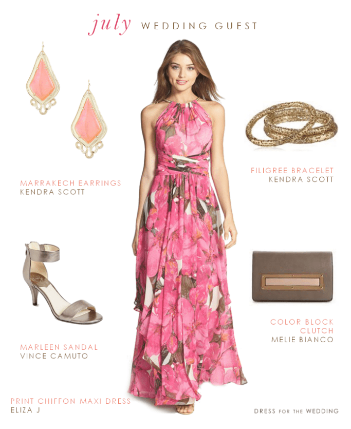 Printed Maxi Dress What To Wear To A July Wedding
