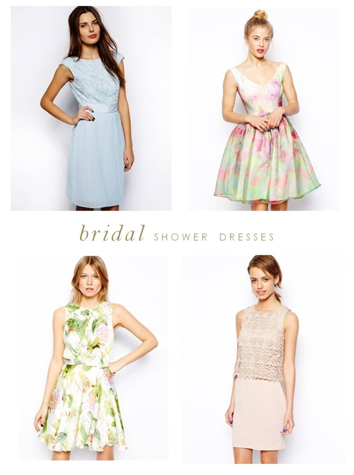 pretty bridal shower dresses
