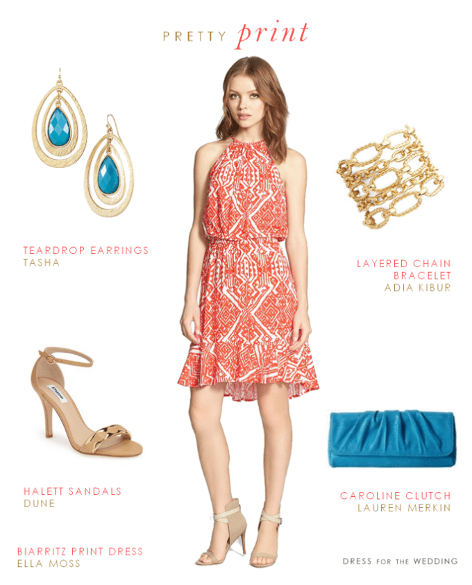 Printed Dresses For Summer Wedding Guests What To Wear