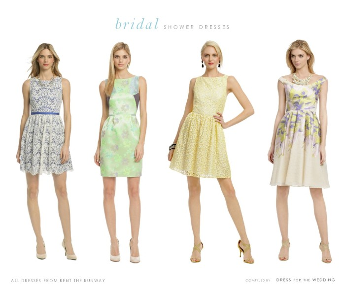 Rent a dress for your bridal shower!