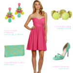 Short Pink Strapless Dress