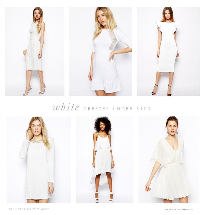 Stylish White Dresses under $100