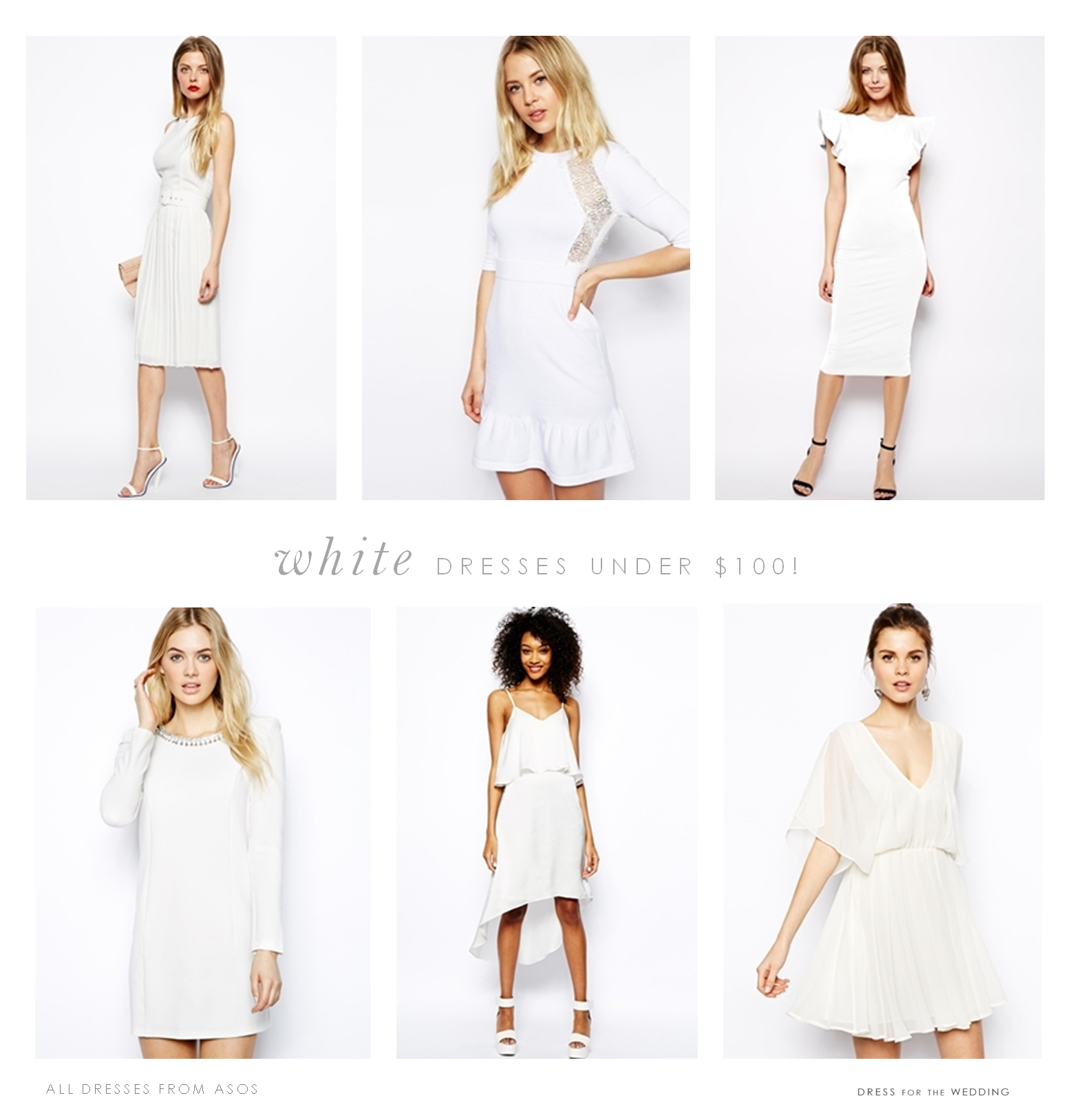 white dresses under 100