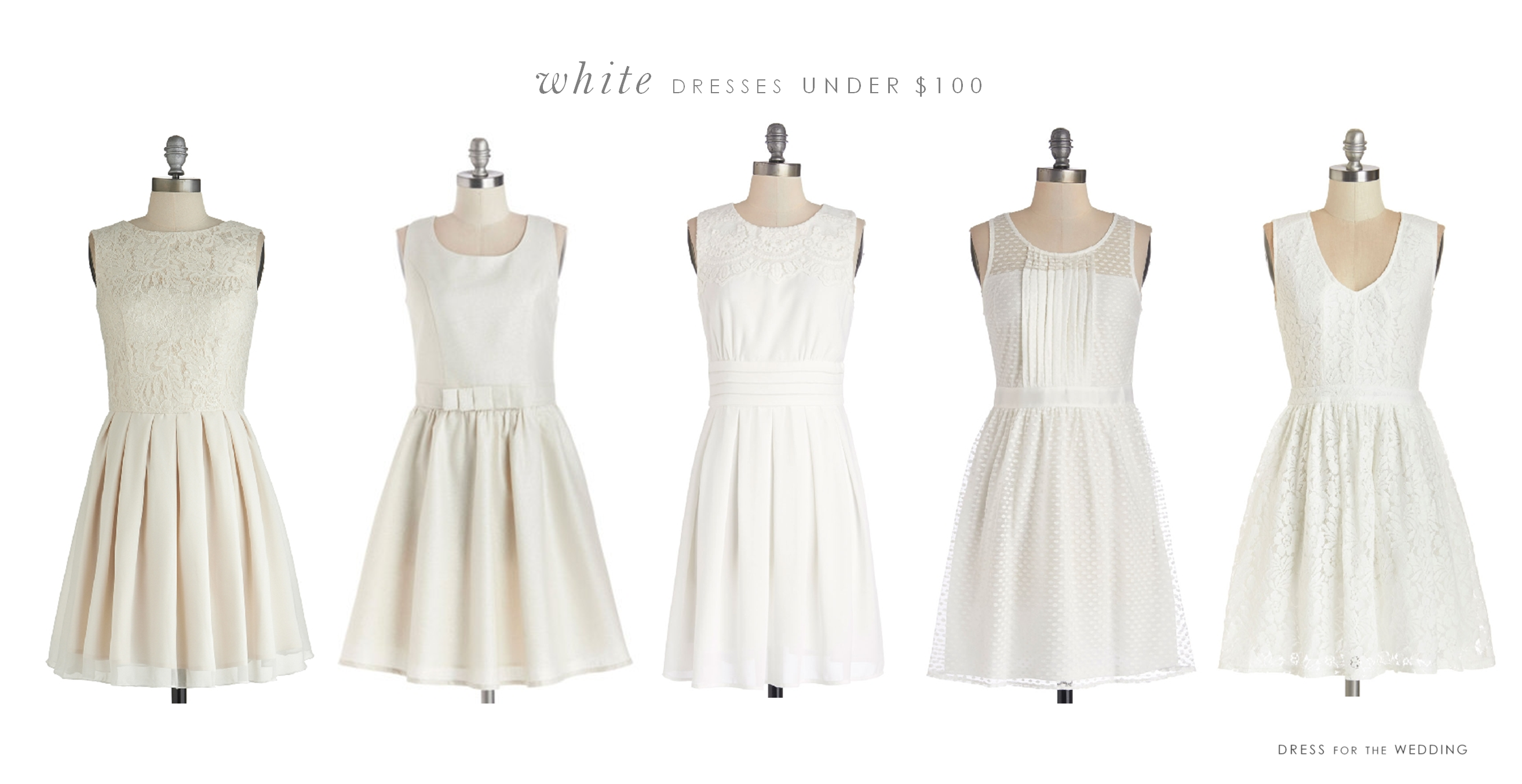 cute white dresses under $100