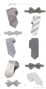 Gray Ties for Groomsmen