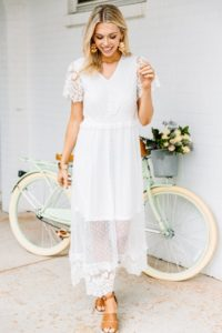 Pretty white dress under 100 for a bride