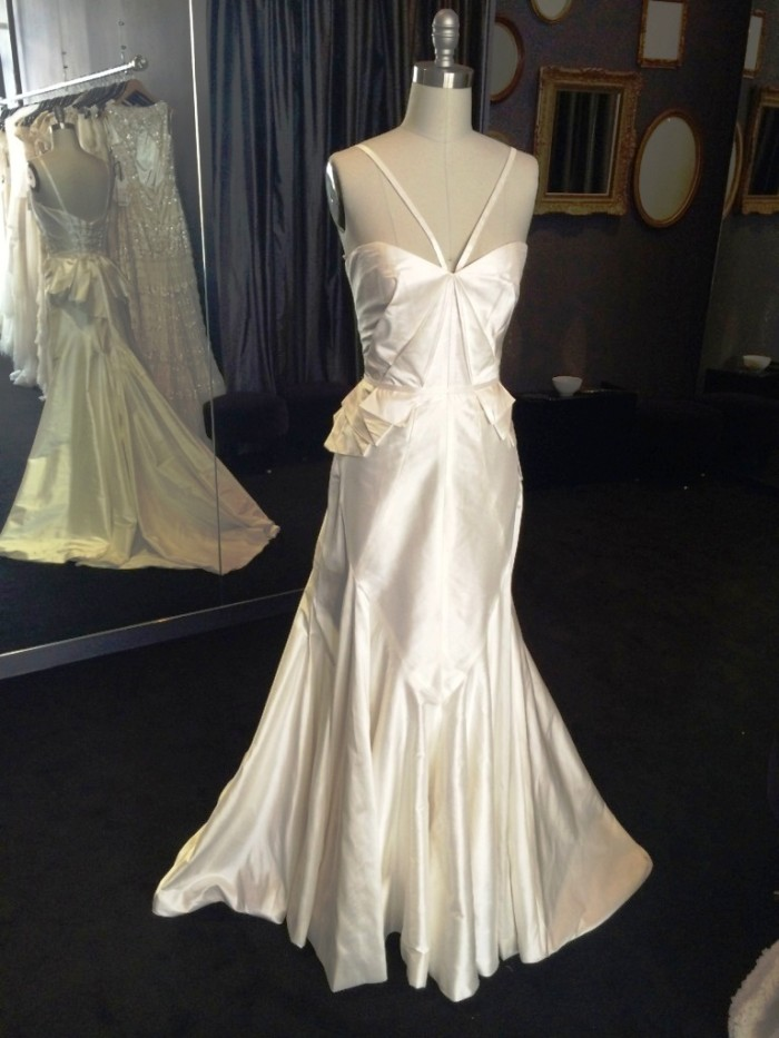 Alassandra by Karen Willis Holmes in her New York City wedding gown boutique