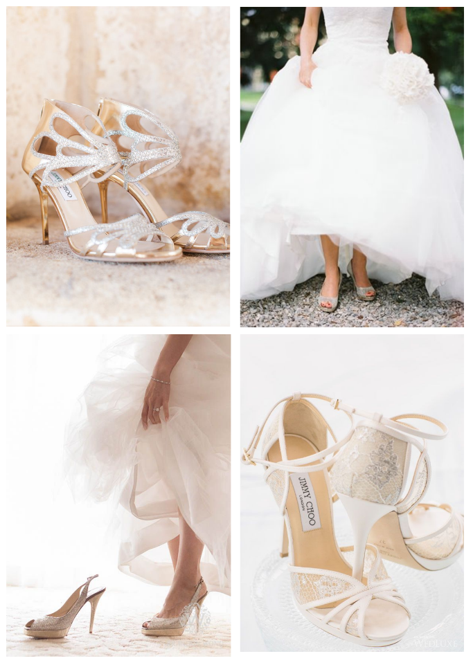 Collage Of Jimmy Choo Bridal Shoes