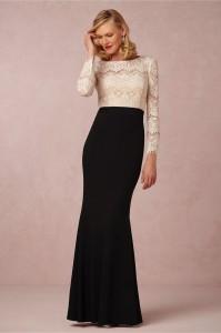 elegant black and white gown
