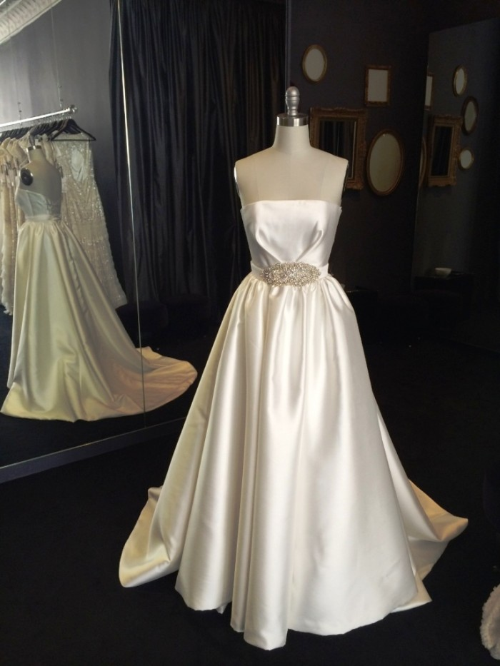 Jacqueline by Karen Willis Holmes, Strapless Wedding Gown  NYC wedding dresses
