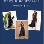 Where to find navy blue dresses for weddings under $100