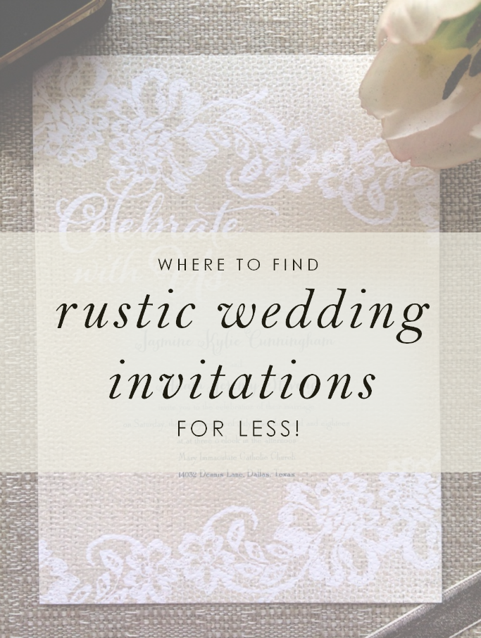 Find rustic wedding invitations for less at Ann's Bridal Bargains