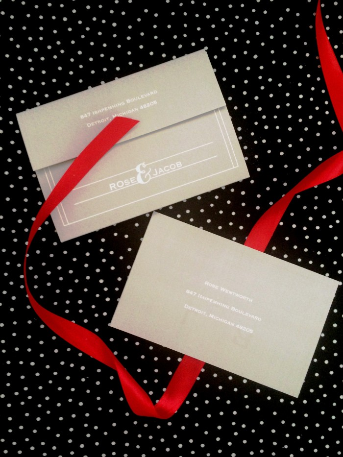 Gray Send and Seal Wedding Invitations from Ann's Bridal Bargains