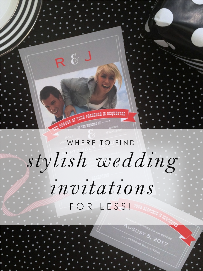 Find stylish wedding invitations for less at Ann's Bridal Bargains