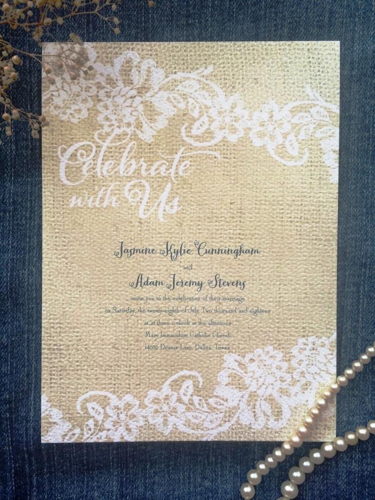 cheap rustic wedding invitation
