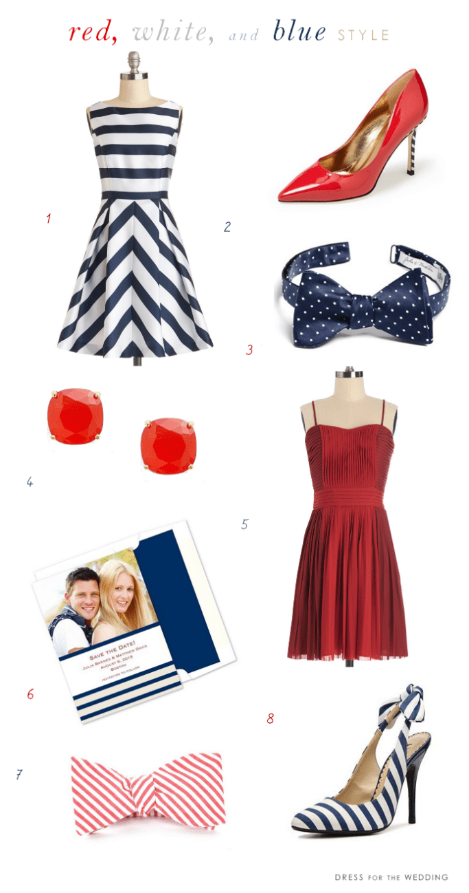 red white and blue wedding style