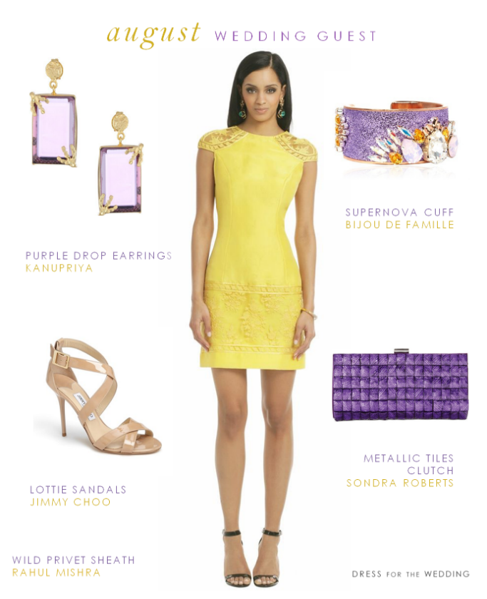 Cocktail Dress For An August Wedding Yellow Lace Dress
