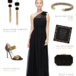 Black Evening Gown for Bridesmaids