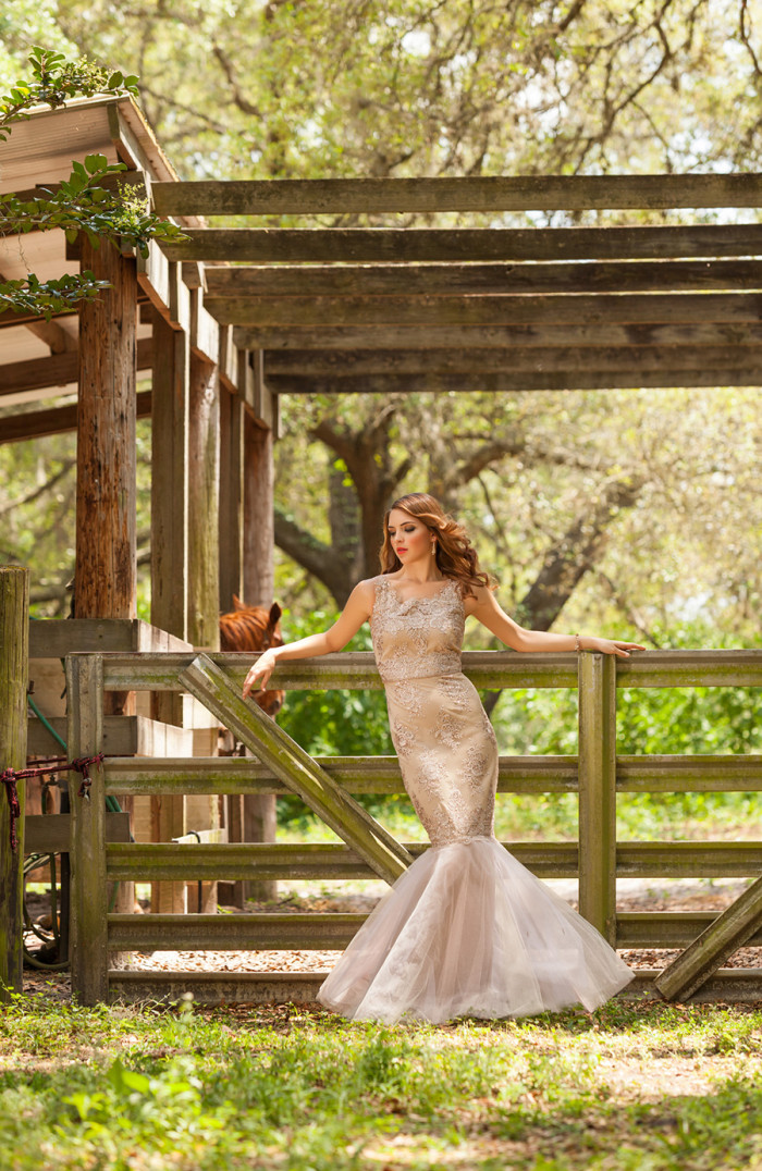 Champagne lace Notte by Marchesa gown Hundreds of Moments Photography