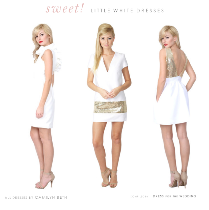 Cute little white dresses