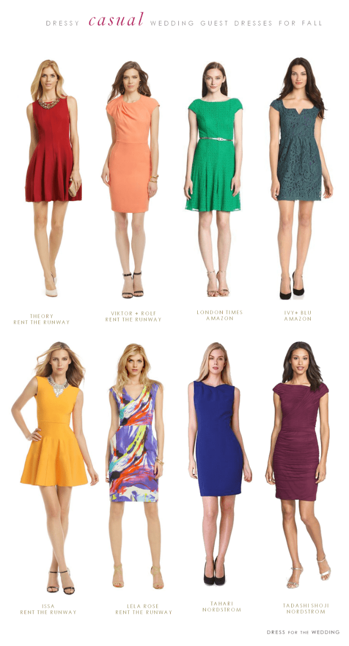 What to wear to a casual fall wedding for Dresses for a fall wedding