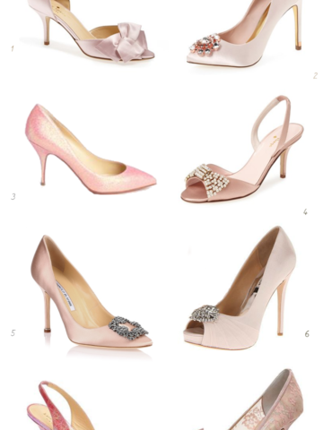 Pale pink wedding shoes