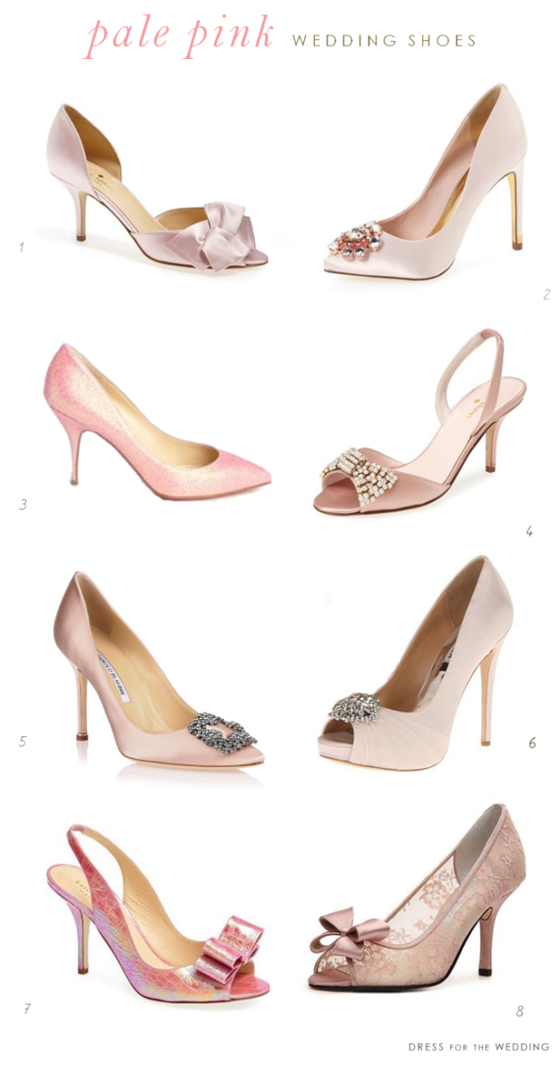 Pale Pink Wedding Shoes Dress For The Wedding