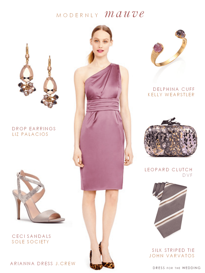One Shoulder Bridesmaid Dress In Mauve