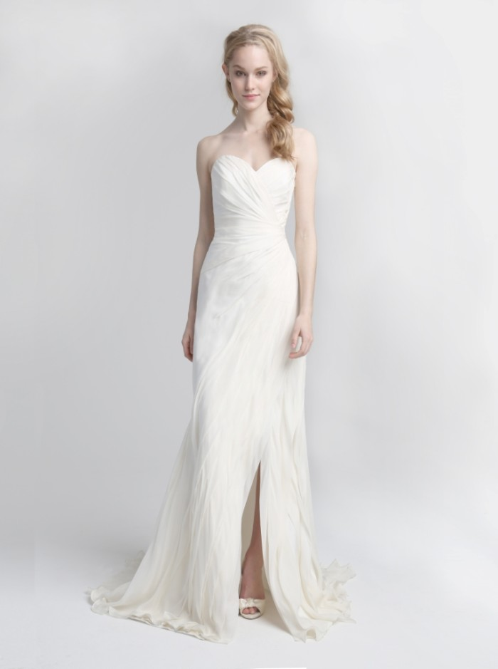 Strapless Wedding Gown Delmare by Kelly Faetanini