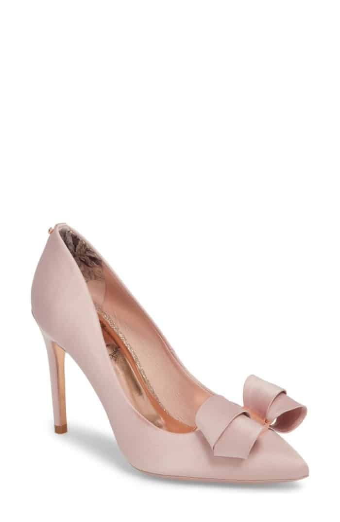 ted baker bow pink shoes
