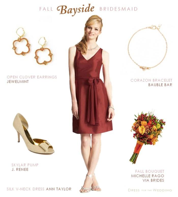 Auburn Colored Bridesmaid Dress