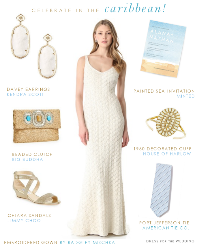 Caribbean Destination Wedding Look