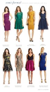 Semi Formal Fall Wedding Guest Dresses