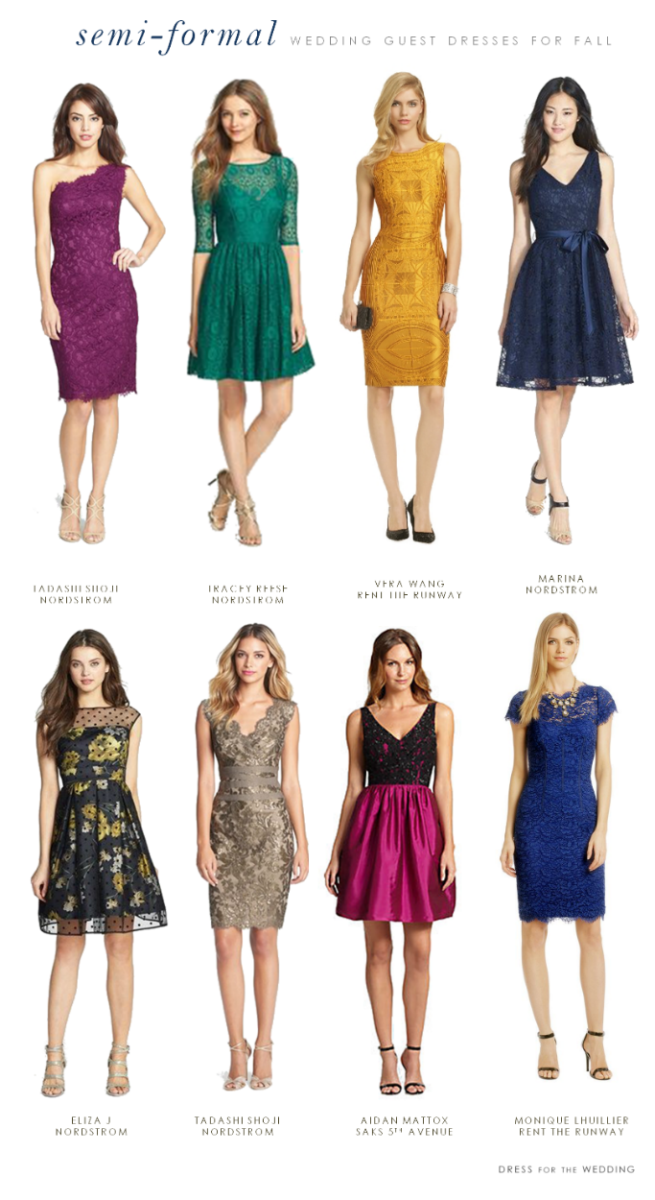What to wear to a semi formal fall wedding for Formal dress code wedding