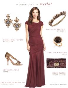 Merlot Evening Gown