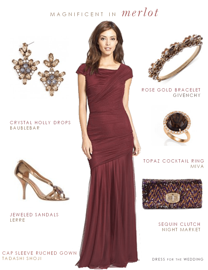 Merlot Mother of the Bride Dress
