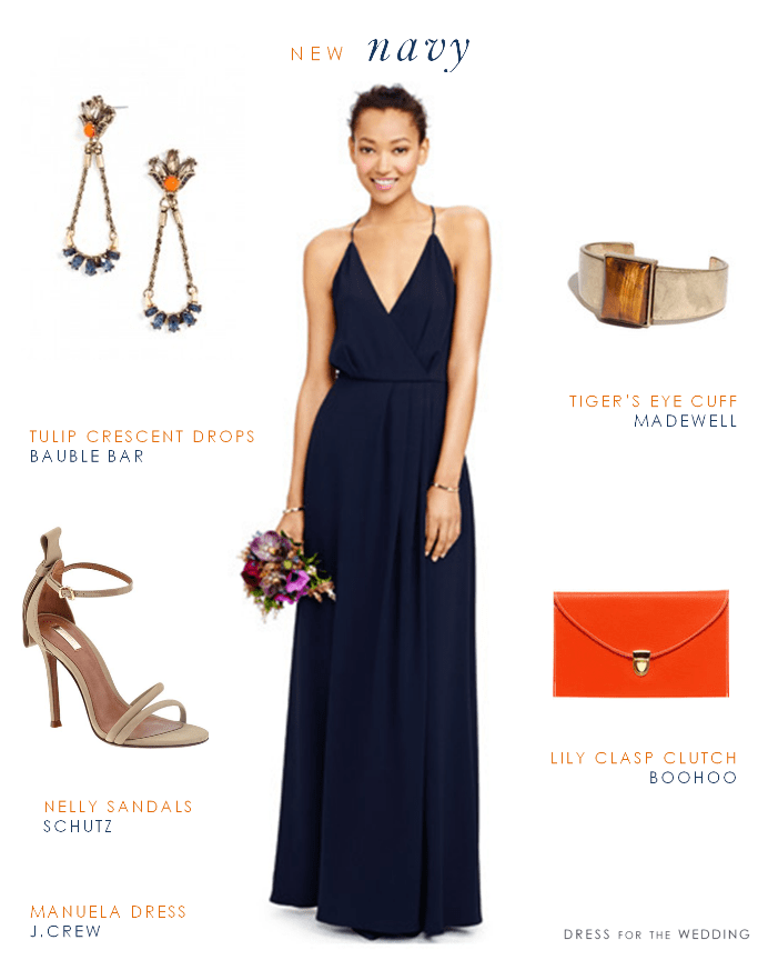 Navy maxi dress for bridesmaids for Navy dresses for weddings
