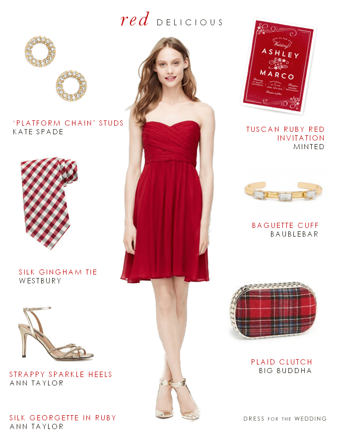 Cocktail Dresses For Fall Weddings Apple Red Bridesmaid Dress for