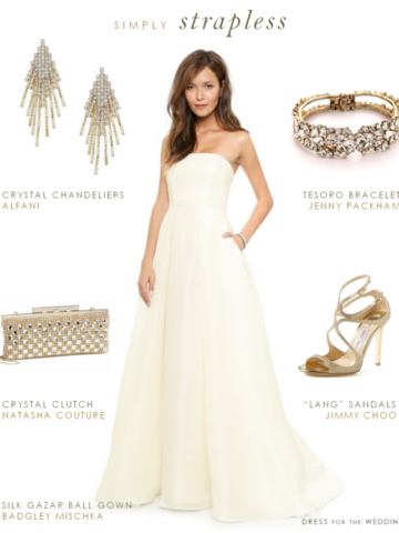 Silk wedding gown with pockets