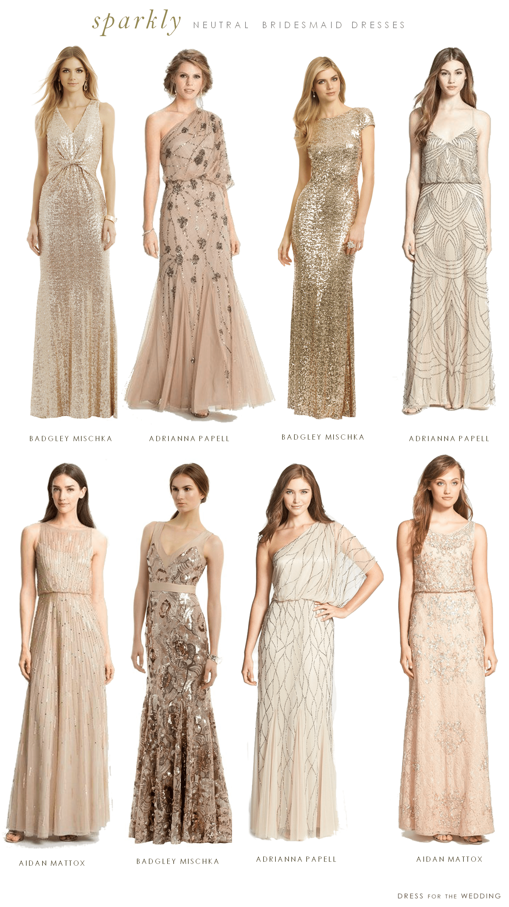Mismatched neutral bridesmaid dresses for Dresses for wedding bridesmaid
