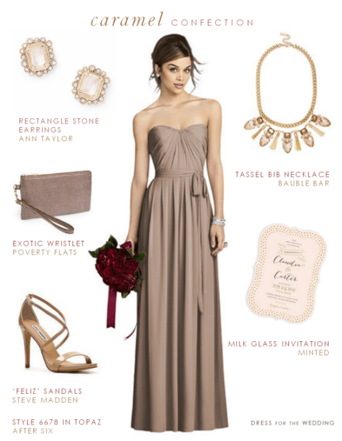Taupe Dresses for a Wedding