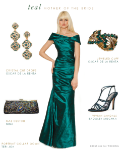A Teal Evening Gown for the Mother of the Bride or Groom