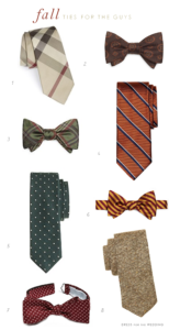 Ties for a Fall Wedding