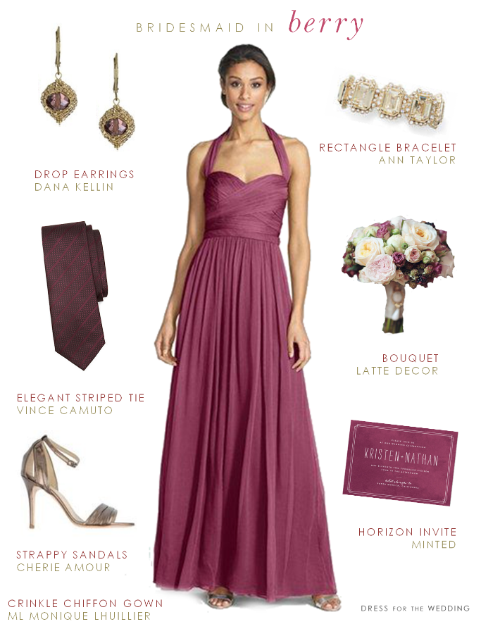 Bridesmaid dresses for fall weddings for Wine colored wedding dresses
