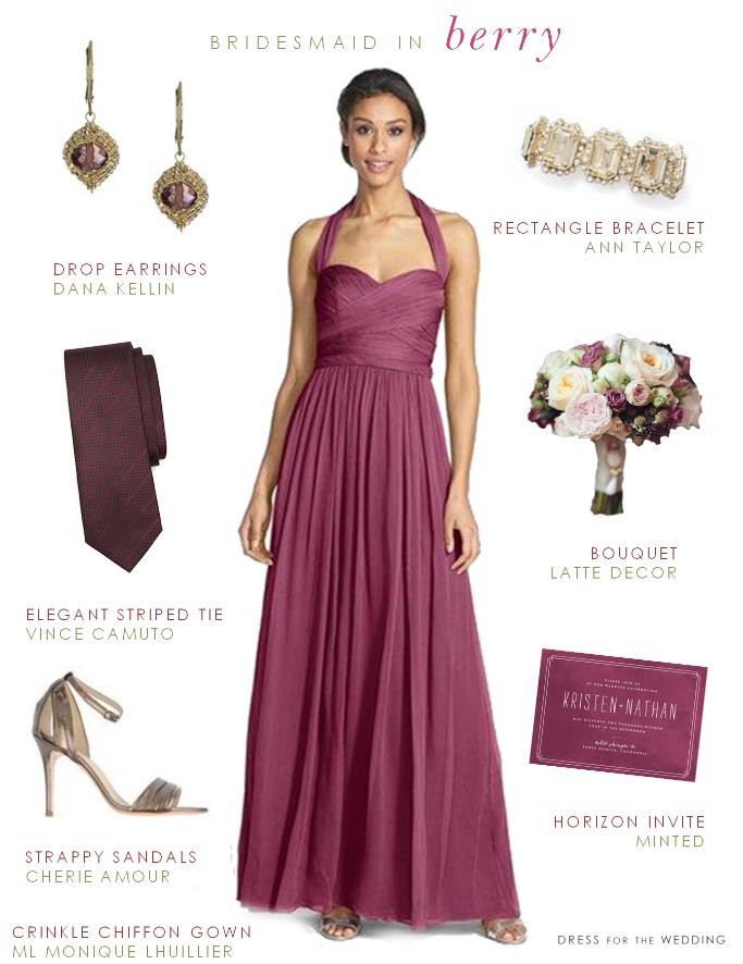 Wine Colored Bridesmaid Dresses 10