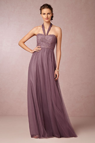 Soft plum bridesmaid dress