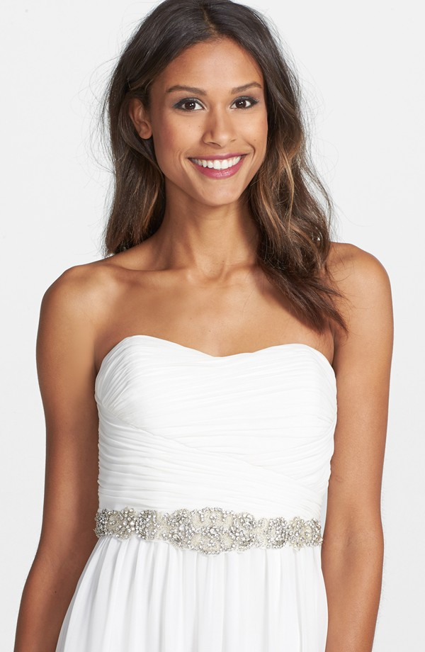 Silver and crystal wedding dress sash | Found at Nordstrom