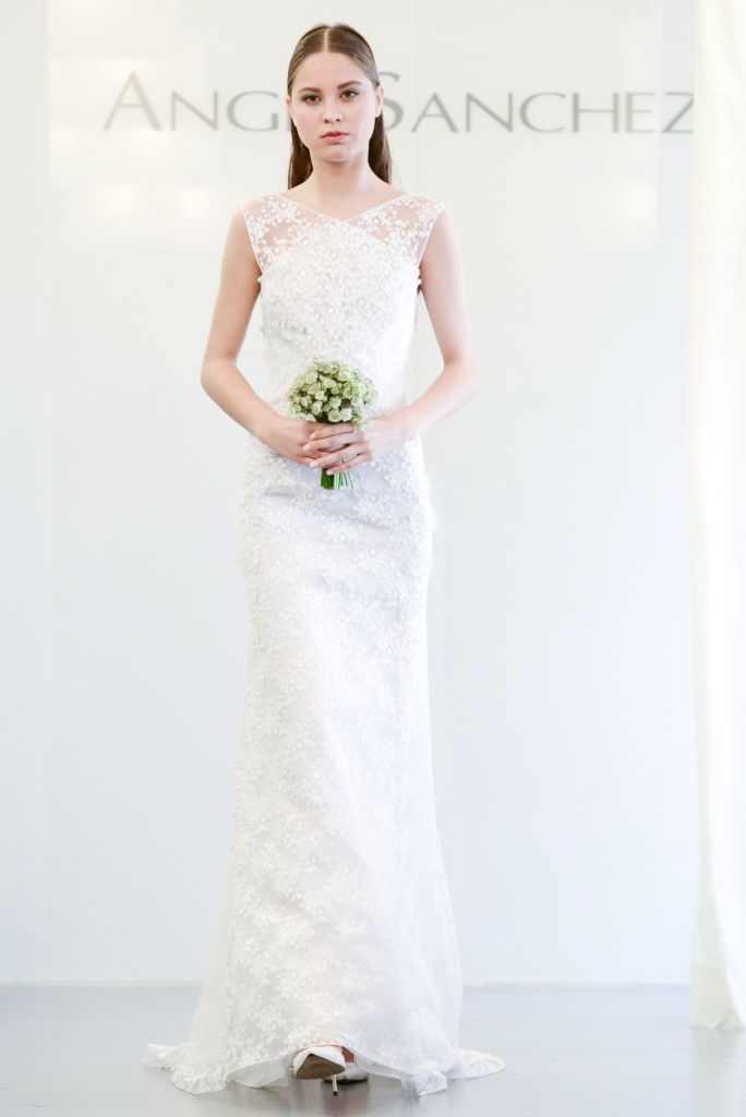 lace wedding dress 2015 Angel Sanchez
